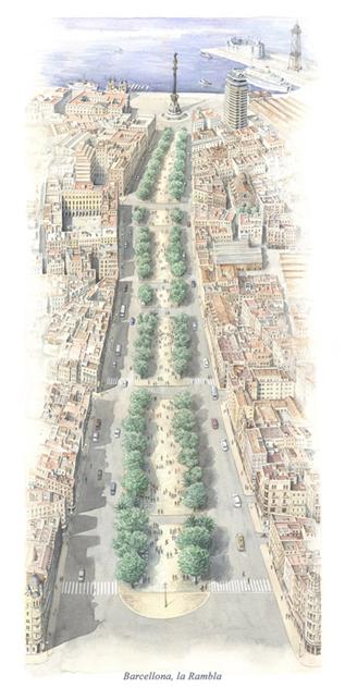 Barcellona, la Rambla bd