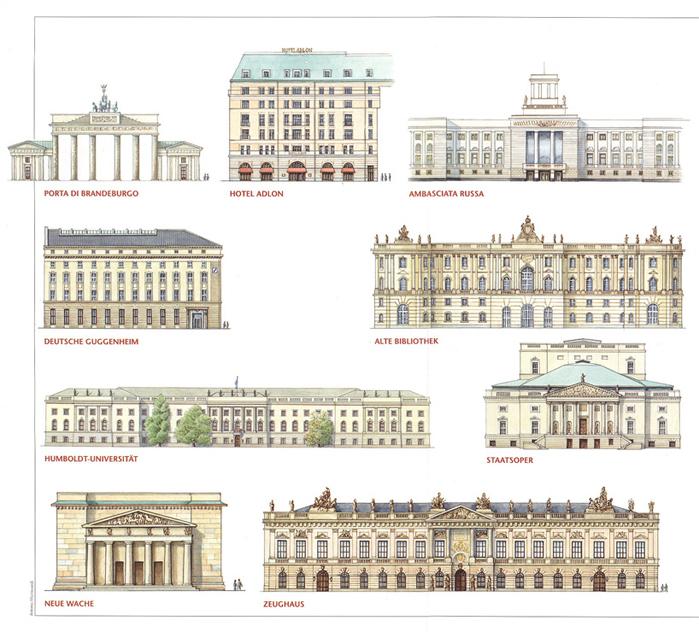 Berlino, monumenti di Unter den Linden,bd