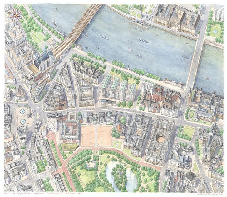 Londra da Trafalgar a Westminster