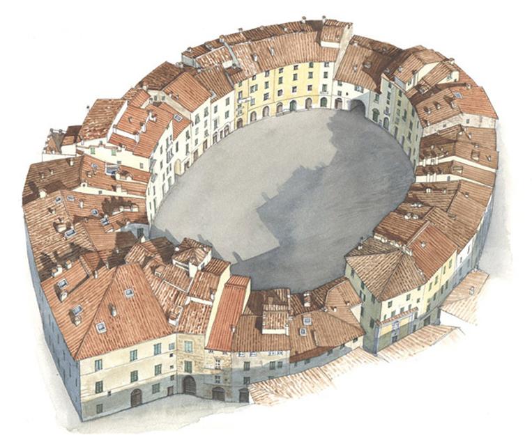 Lucca, piazza Mercato