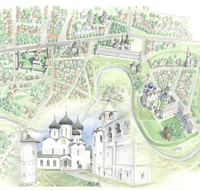Monasteri di Suzdal (part), Russia- bd