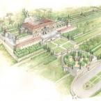 Roma, Villa Madama (ricostruz.del progetto di Raffaello) bd