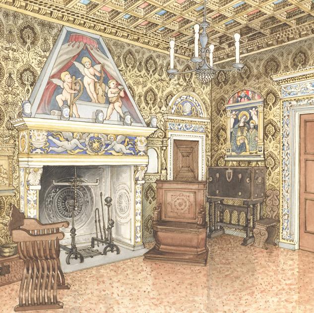 Milano, Palazzo Bagatti-Valsecchi, Sala Bevilacqua dettaglio bd