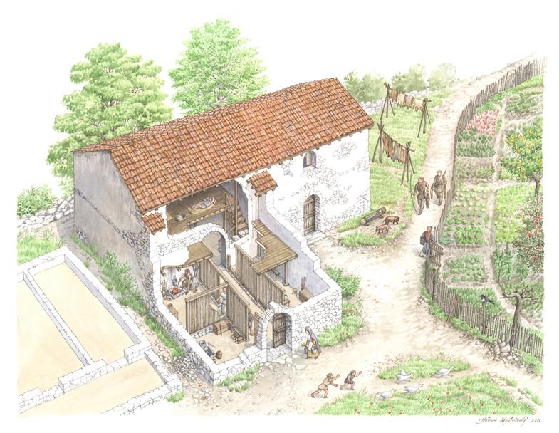 Piani Barra - Edificio VII, ricostruzione