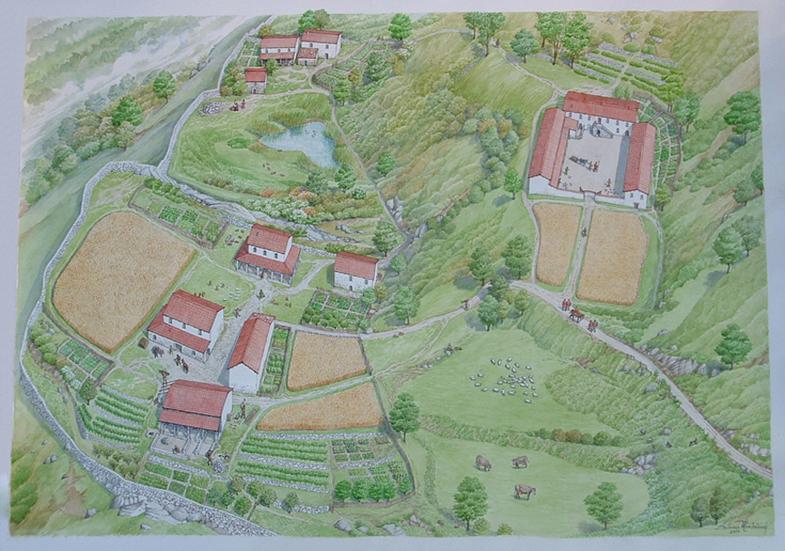 Piani di Barra - Ricostruzione abitato in epoca Gota (500d.C.)