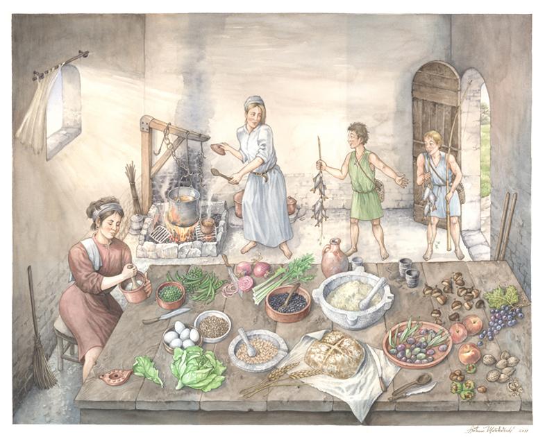 cucina dei Goti, ricostruzione